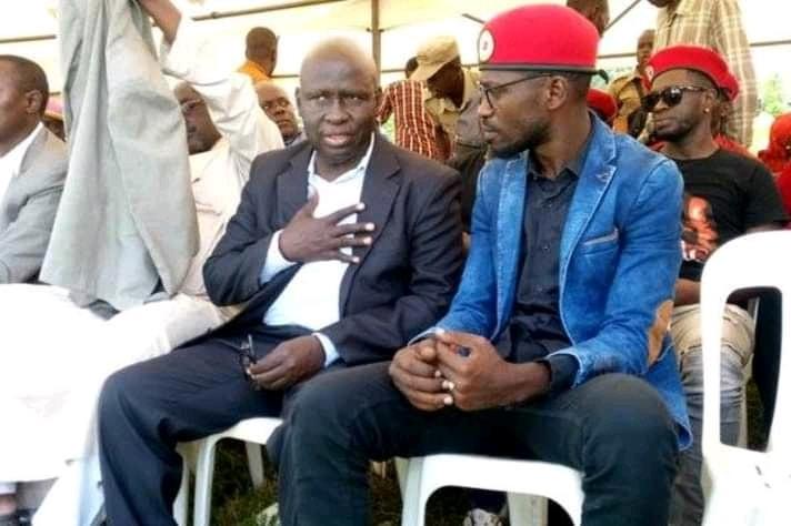 Kyadondo East MP Robert Kyagulanyi and Former Bukhooli Central MP Wafula Oguttu
