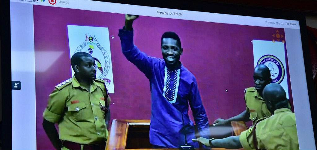 Bobi Wine back in court via video conferencing