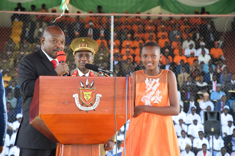 Pierre Nkurunziza and daughter