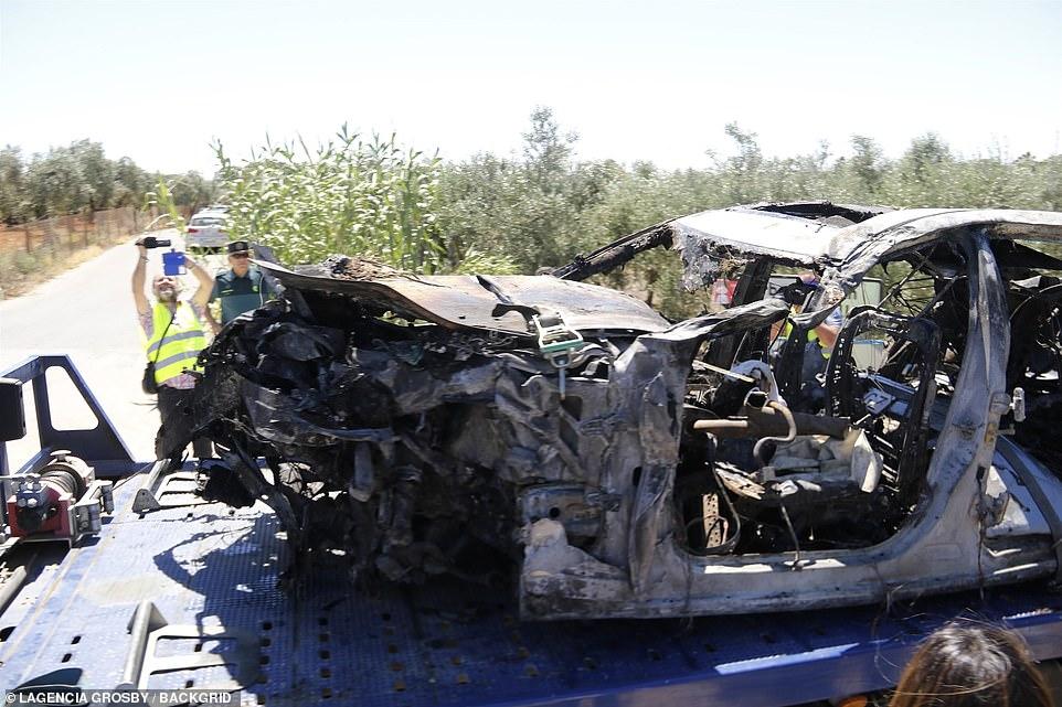 The car in which José Antonio Reyes. died