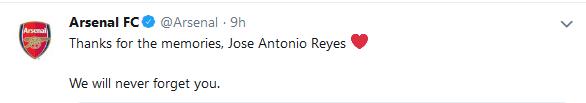 Arssenal's tweet