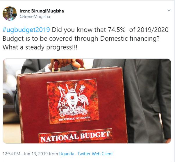Tweet By Irene BirungiMugisha - Private Secretary Admin to H.E. President of Uganda