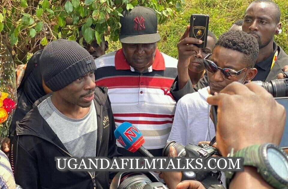 Socialite Suleiman Kabangala Mbuga Talking to the Media