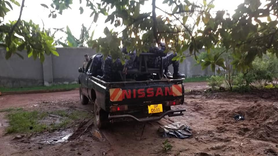 Police Patrol Parking Outside Bobi Wine's Home