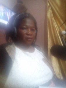 SP Angucia Josephine attending a talk show on Arua One FM