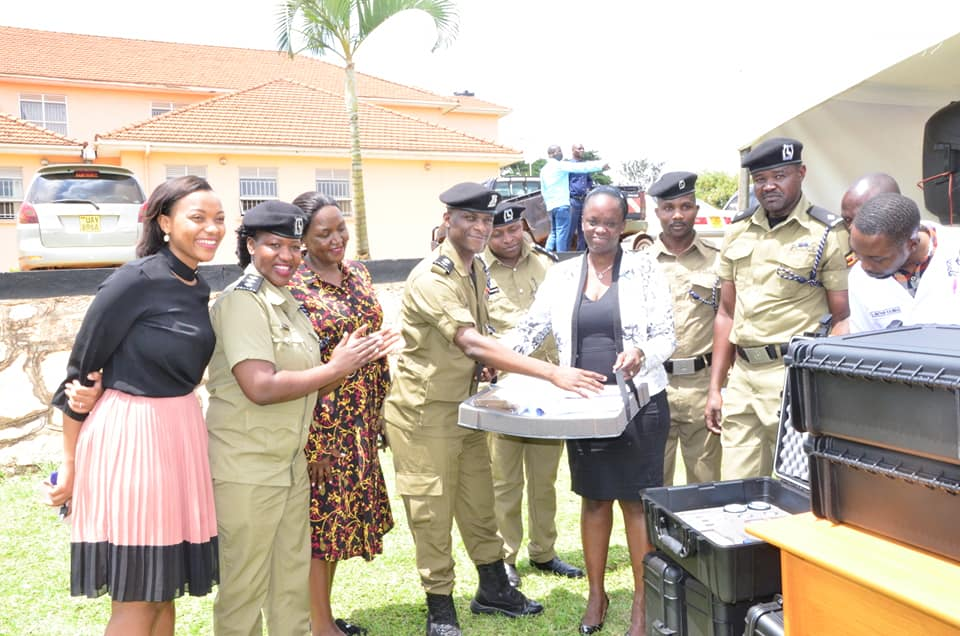 The kits were handed over to the Acting Director of Forensic Services Superintendent of Police