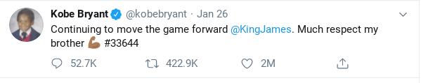 Kobe Bryant's Last Tweet